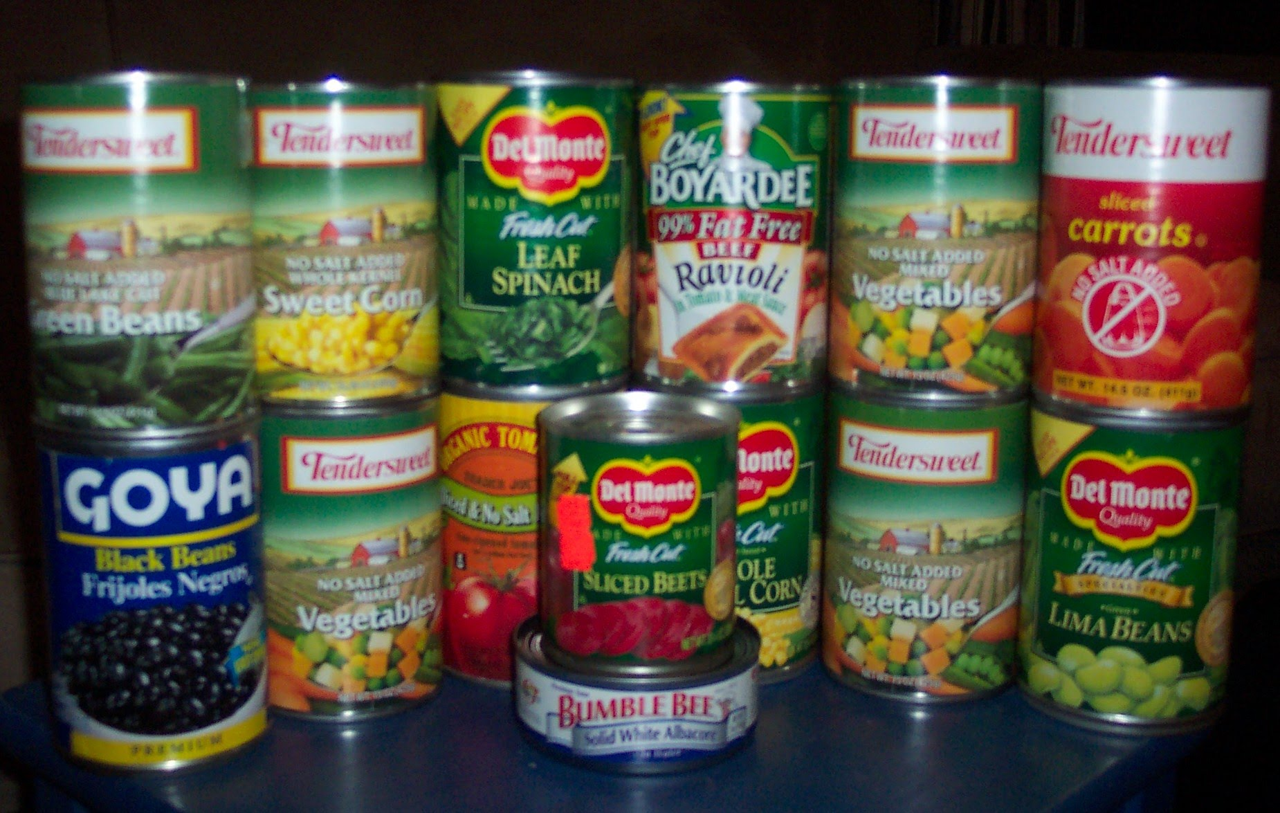 Canned food is your friend.