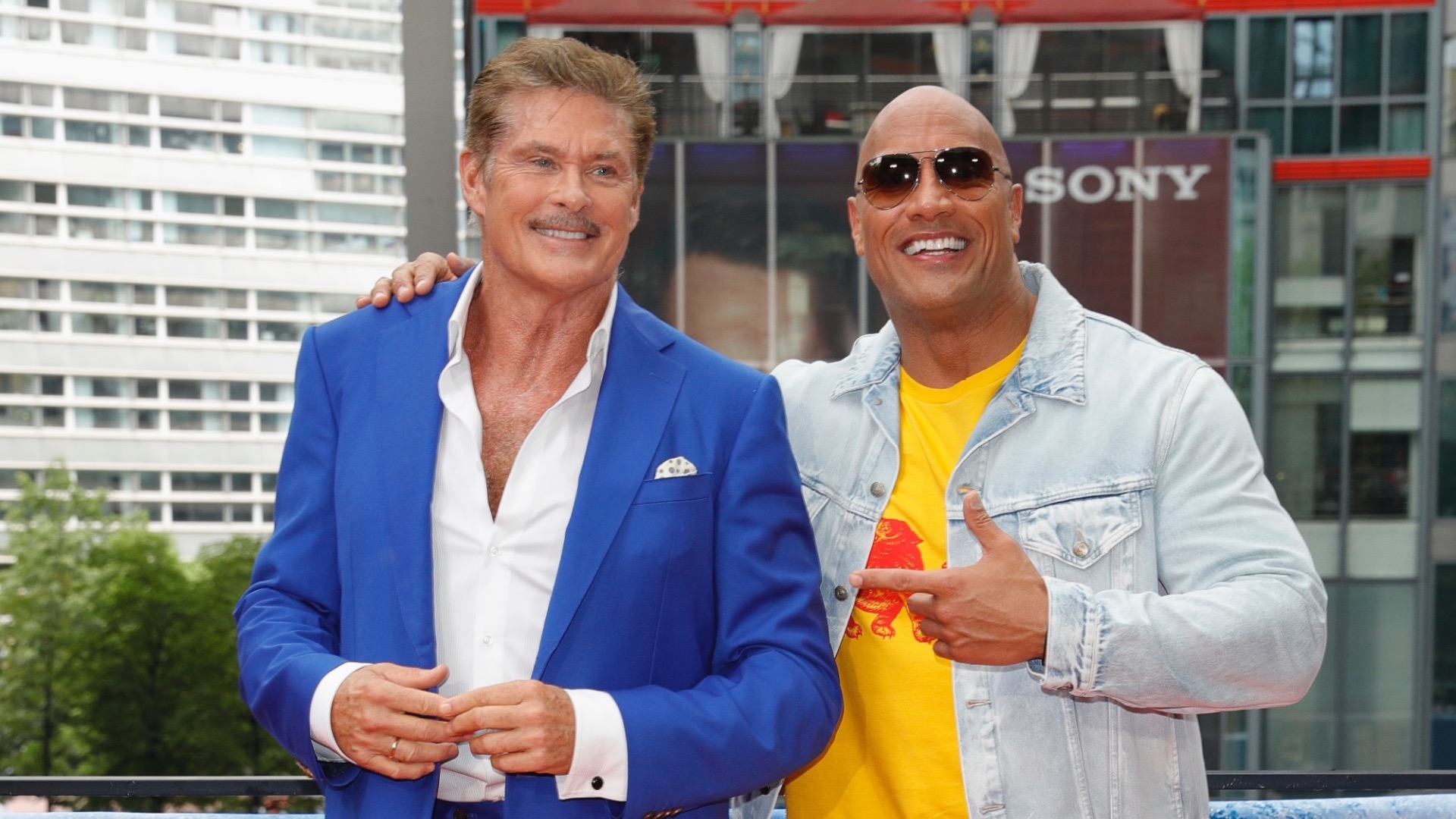 David Hasselhoff and Dwayne Johnson.