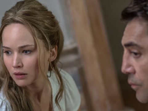 Jennifer Lawrence and Javier Bardem in mother!