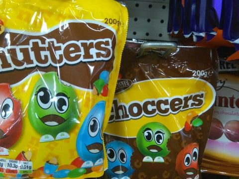 A bag of Nutters in Poundland.