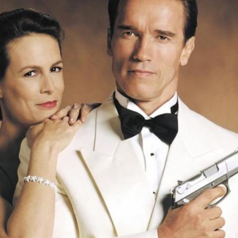 Arnold Schwarzenegger and Jamie Lee Curtis in True Lies.