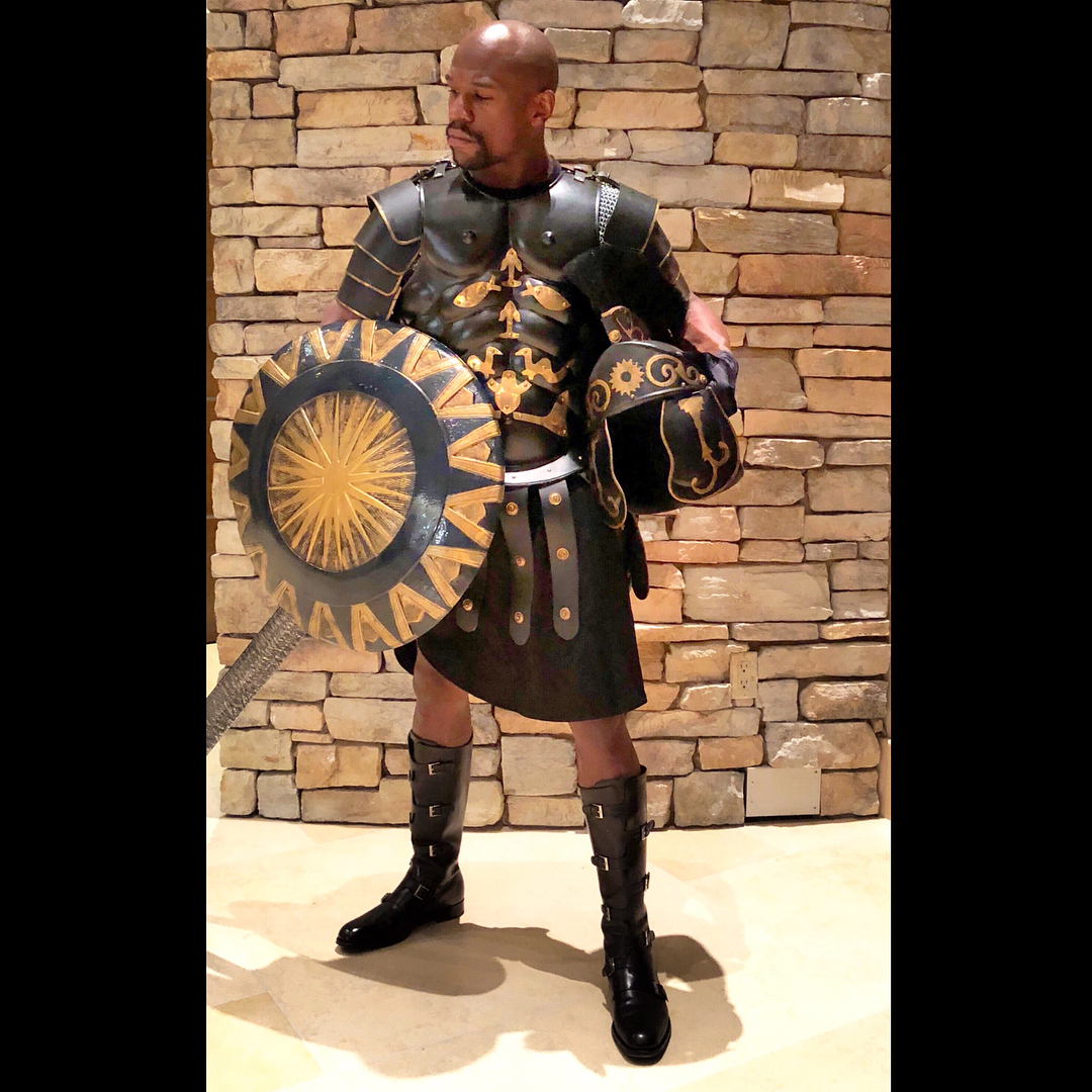 Floyd Mayweather Jr as Gladiator.
