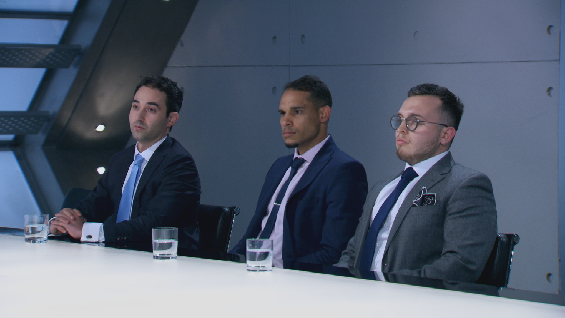 Elliot, Danny and Charles in the boardroom.