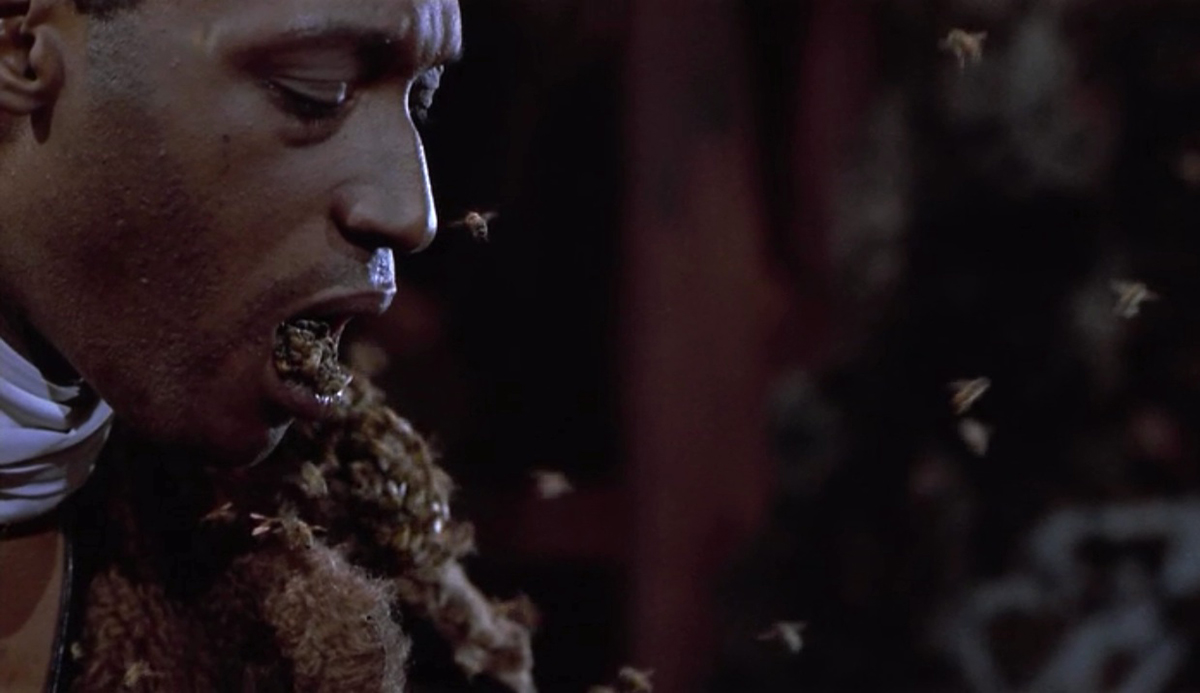 Candyman with bees.