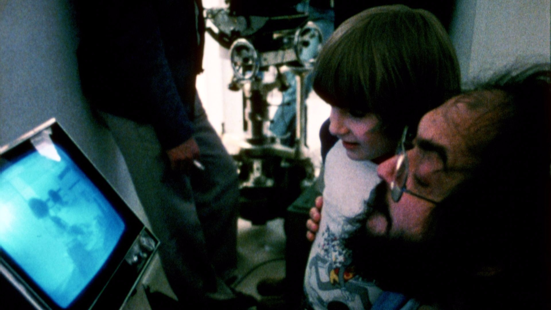 Stanley Kubrick and Danny Lloyd.
