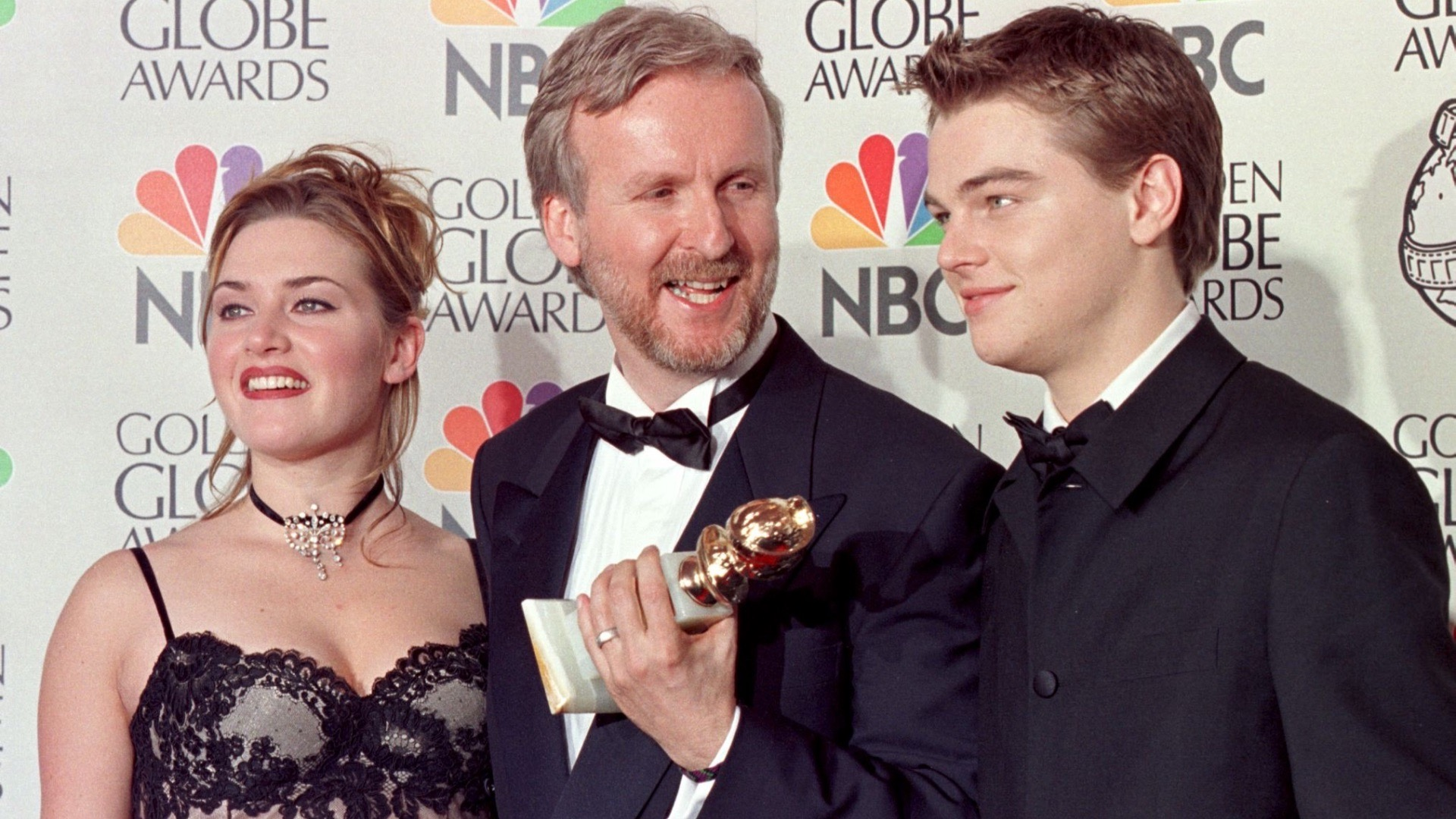Kate Winslet, James Cameron and Leonardo DiCaprio.