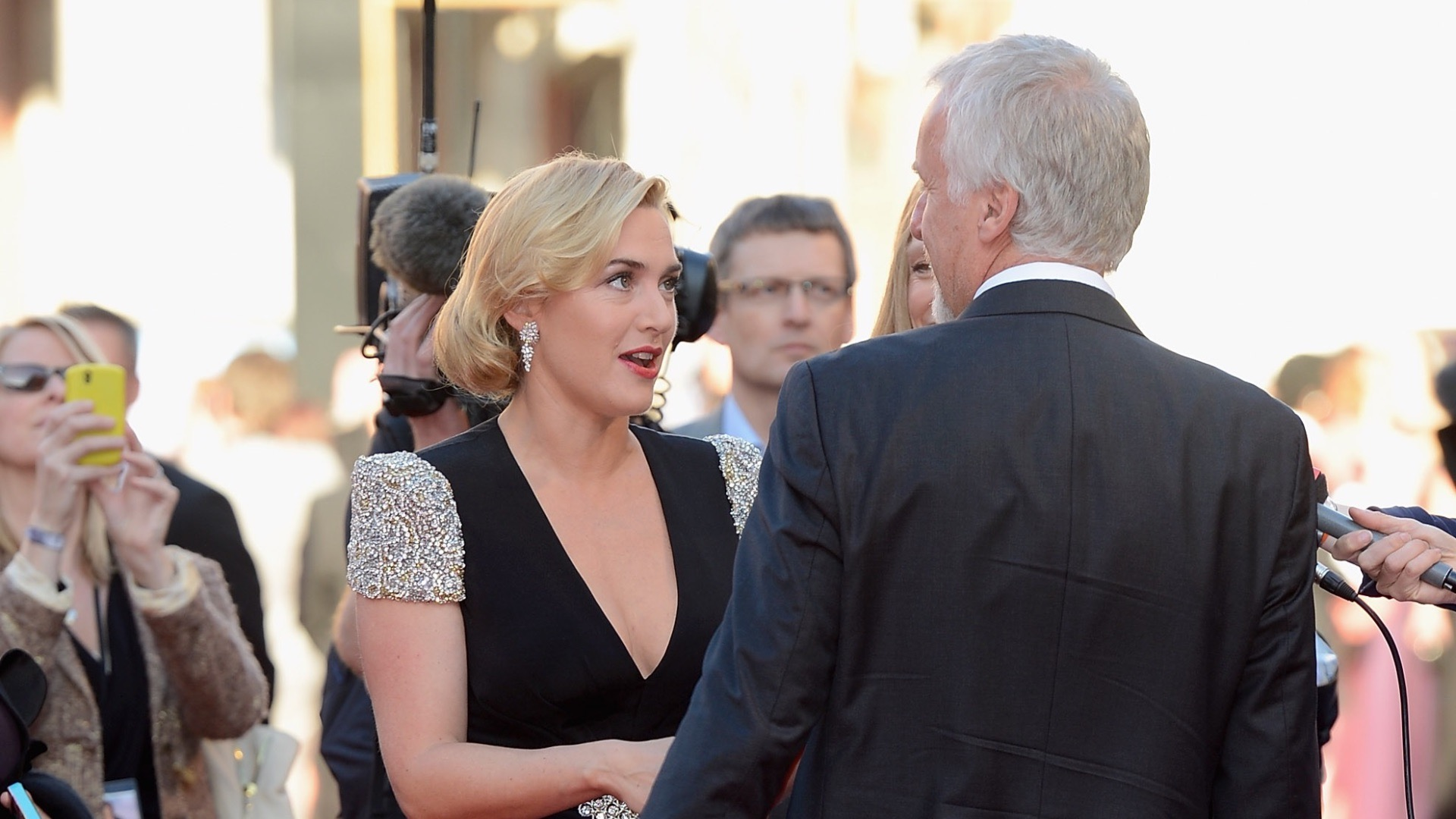 Kate and James reunited for Titanic 3D.