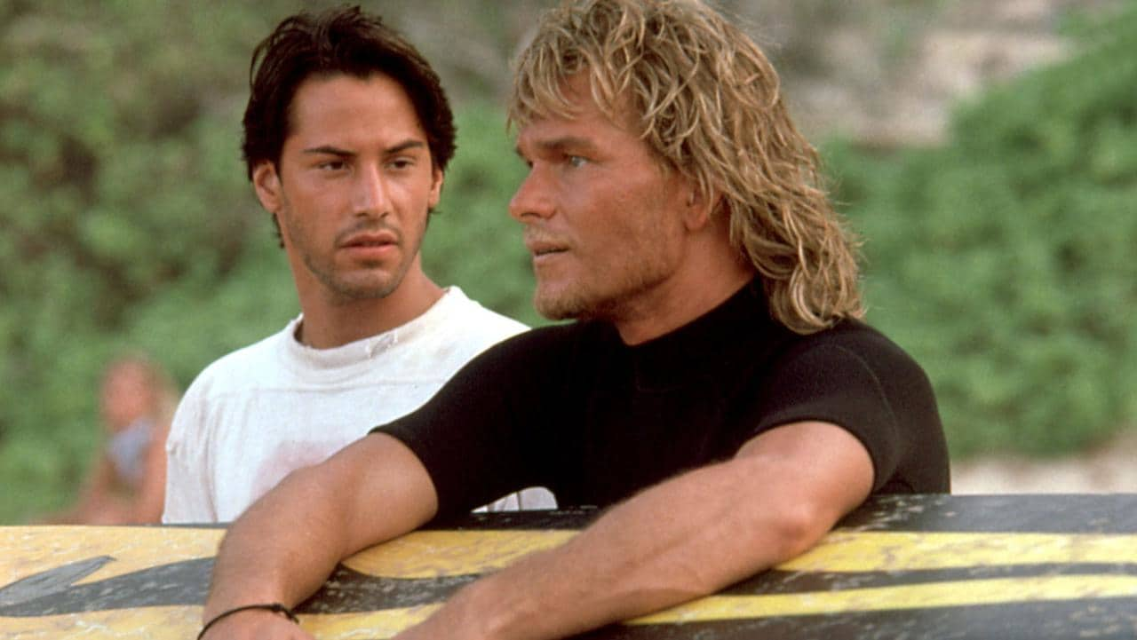 Patrick Swayze in Point Break.