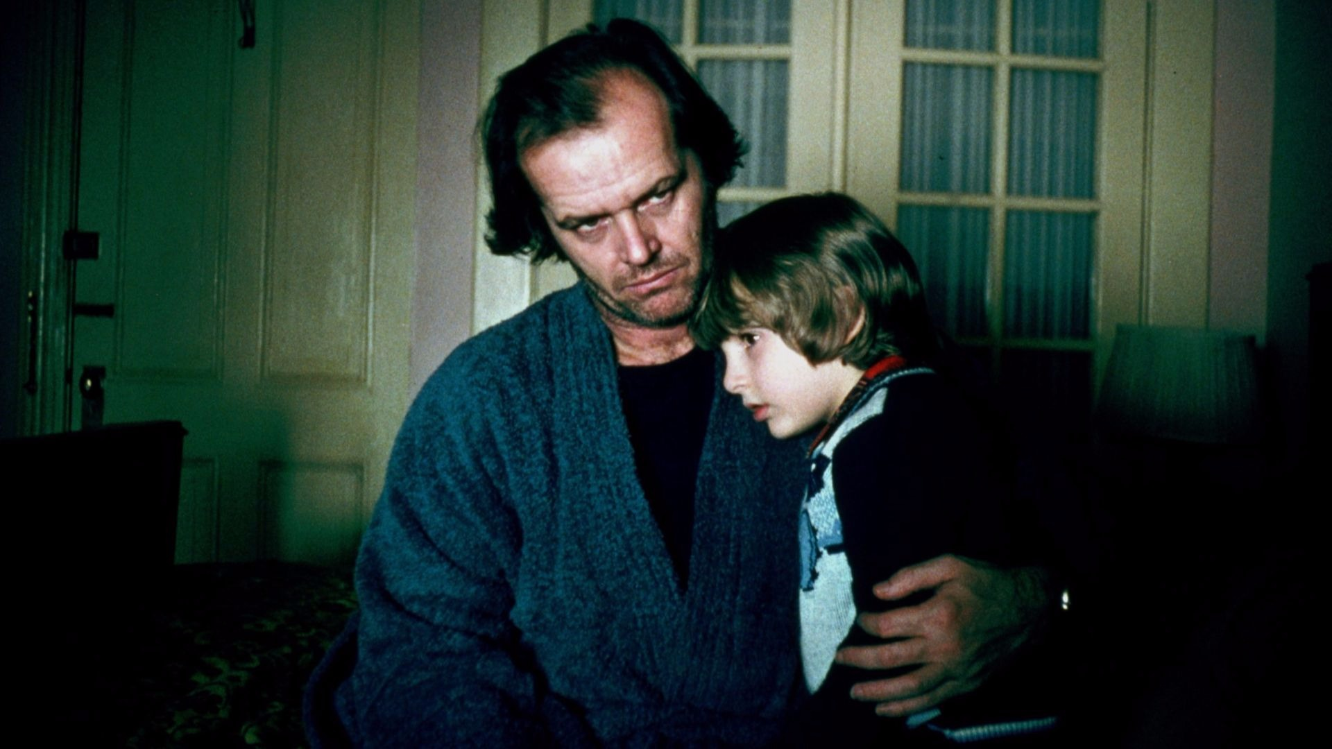 Jack Nicholson and Jack Torrance in The Shining.