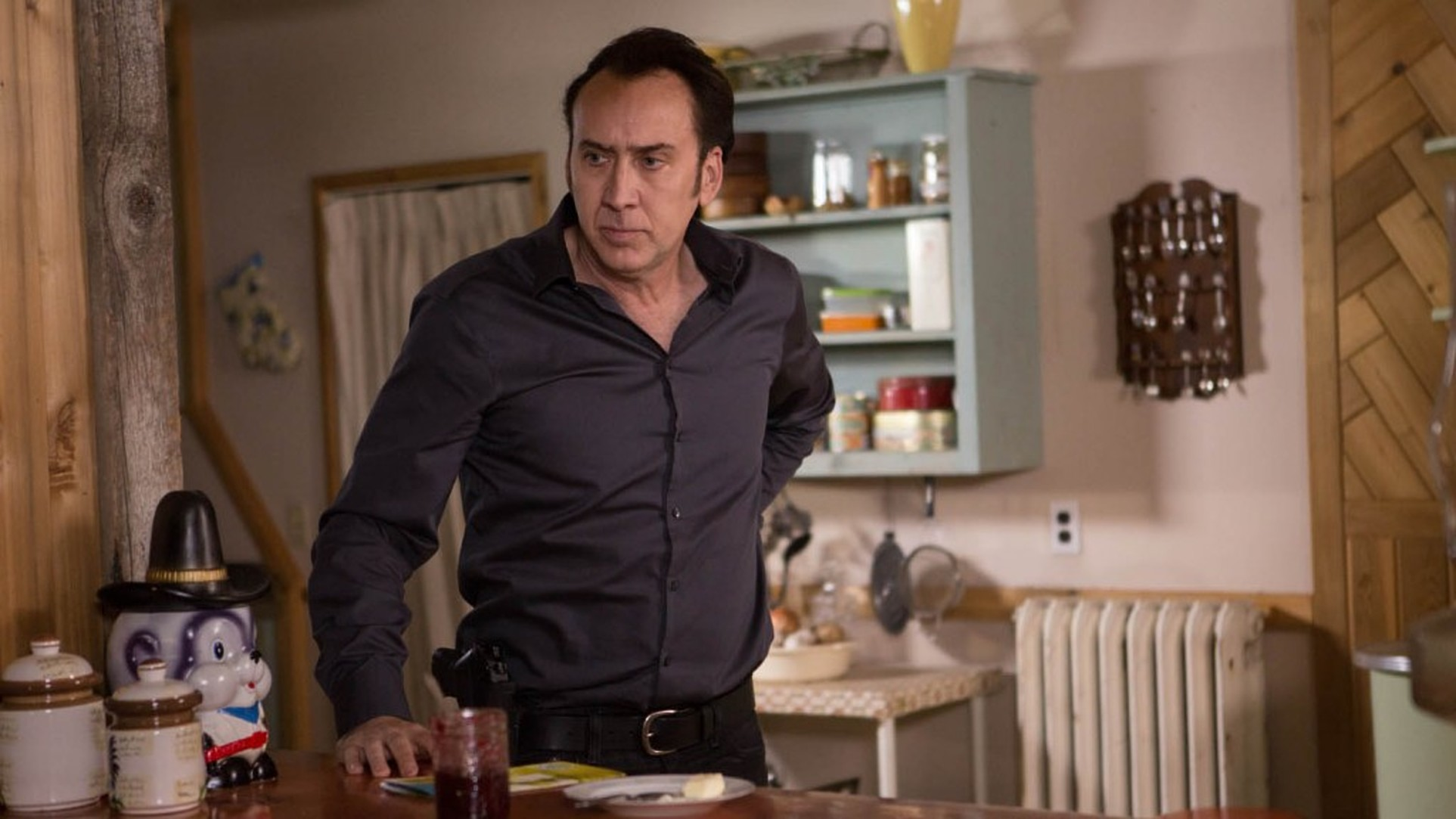 Nicolas Cage in The Humanity Bureau.