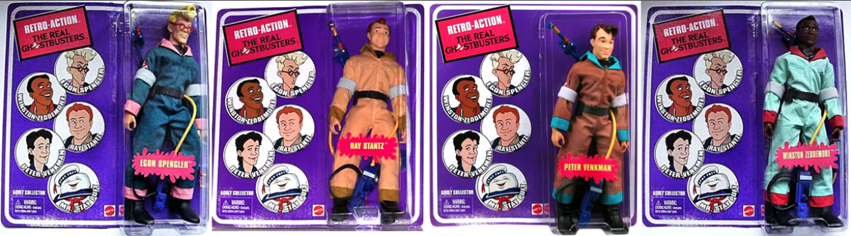 Ghostbusters toys.