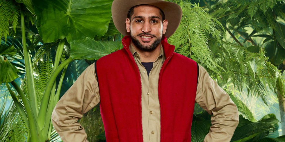 Amir Khan on I'm A Celeb.