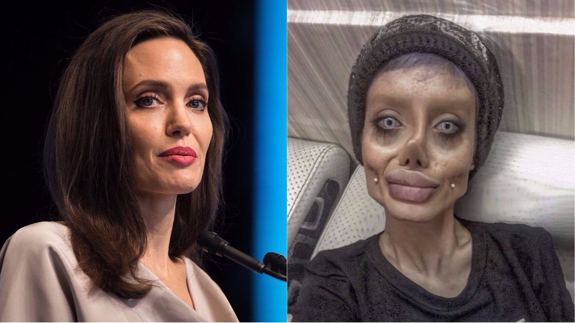 Angelina Jolie and her superfan