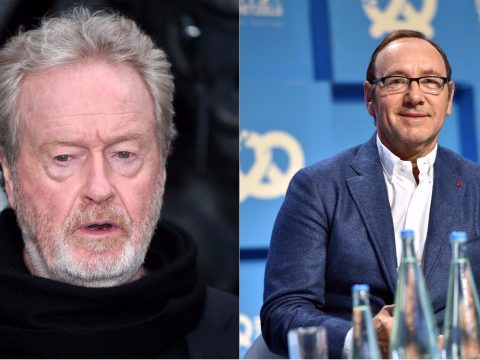 Ridley Scott and Kevin Spacey.