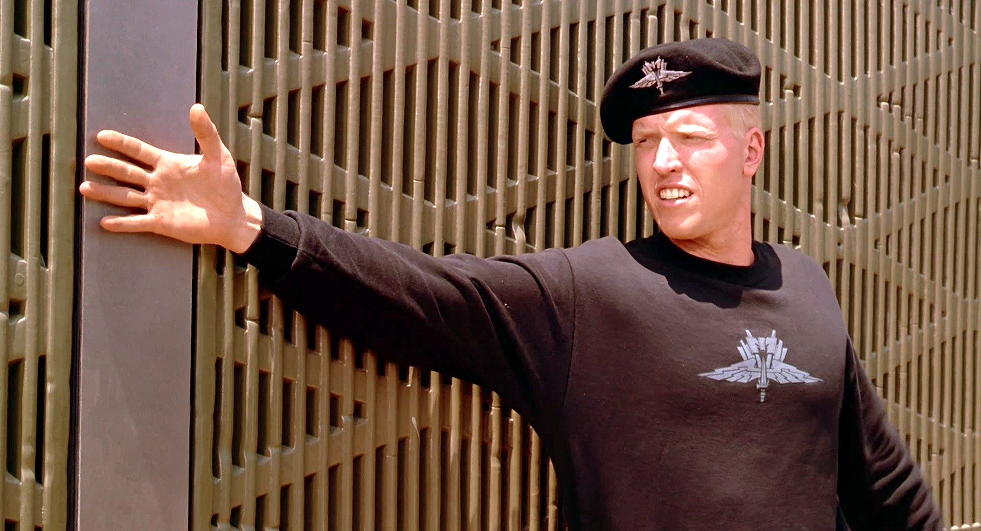 Jake Busey in Starship Troopers.
