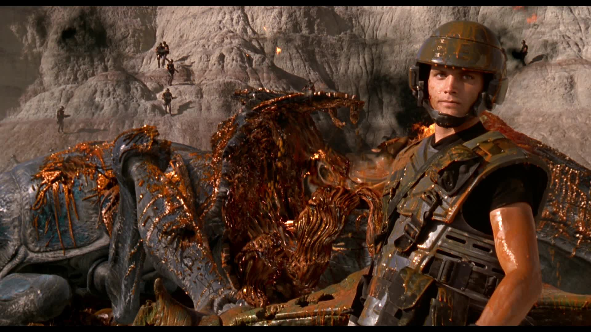 Casper Van Dien as Johnny Rico in Starship Troopers.