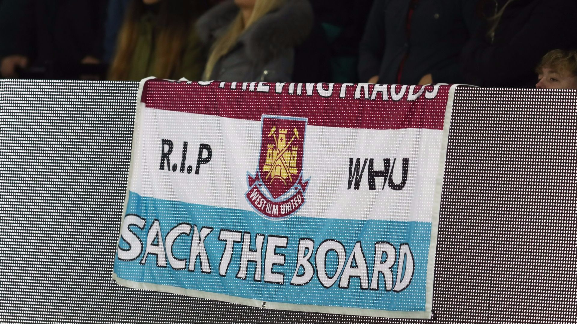 West Ham fans are not happy.