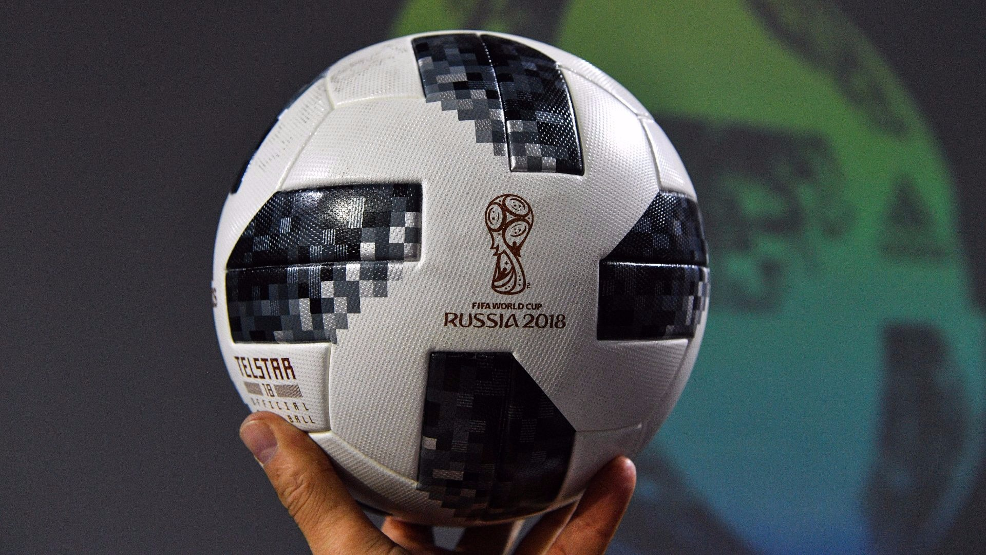 The Russia World Cup ball.