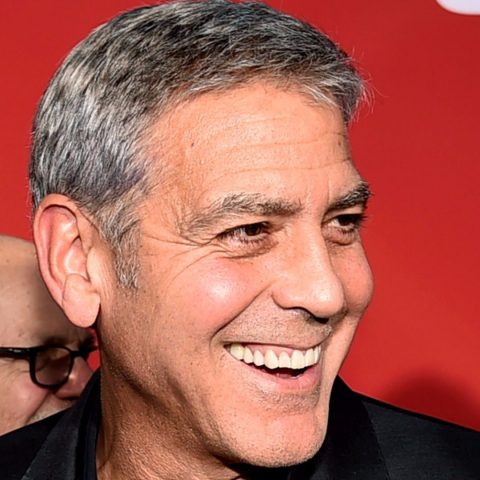 Actor George Clooney smiling.