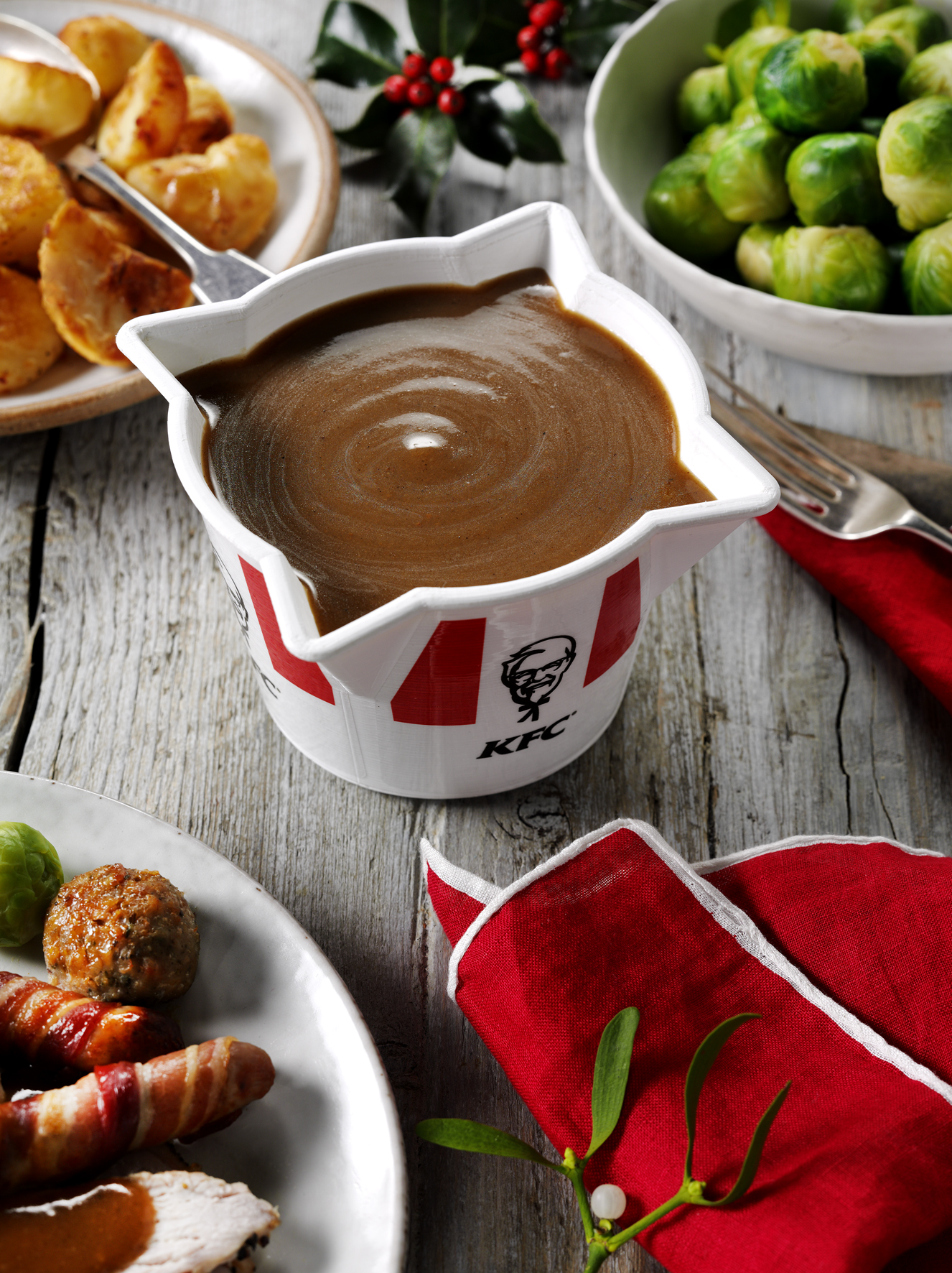 The KFC gravy bucket.