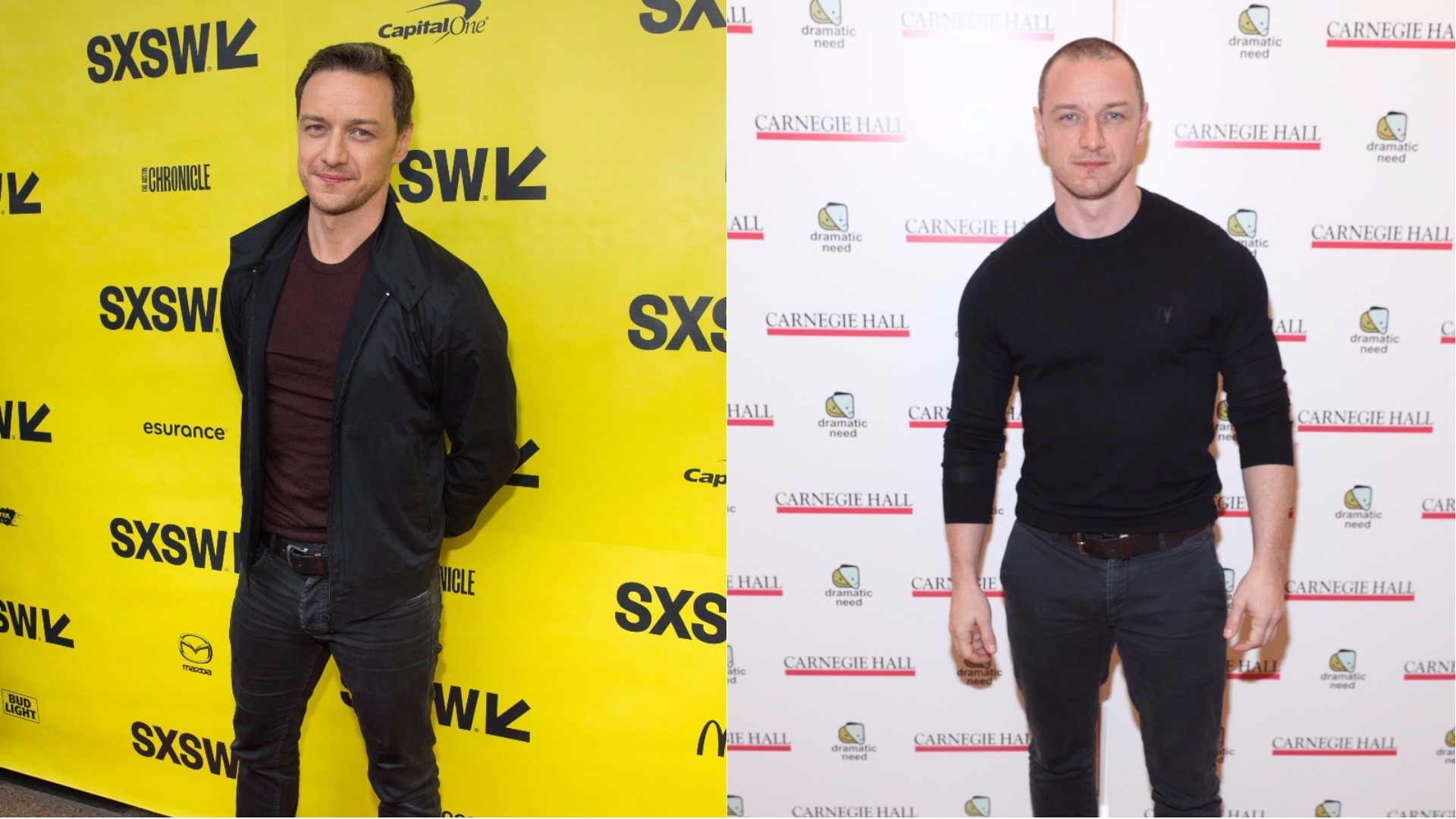 James McAvoy's body transformation.