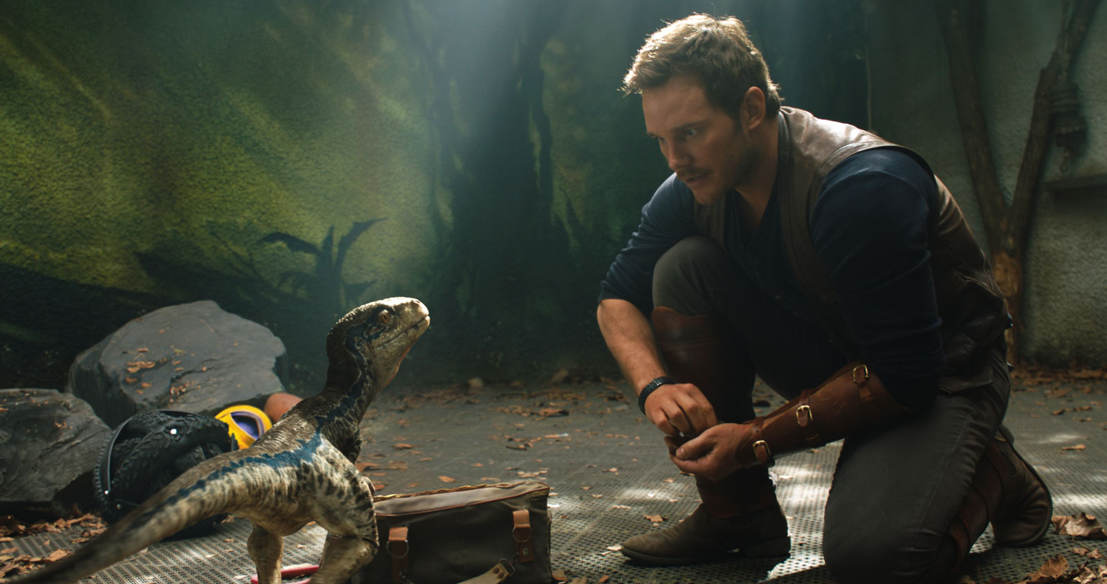 Chris Pratt in Jurassic World 2.