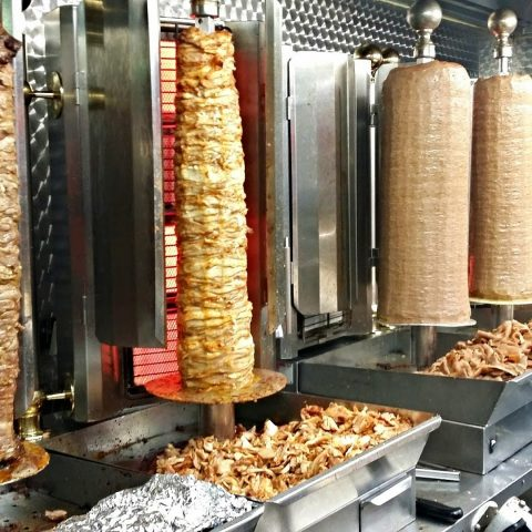 A selection of kebabs.