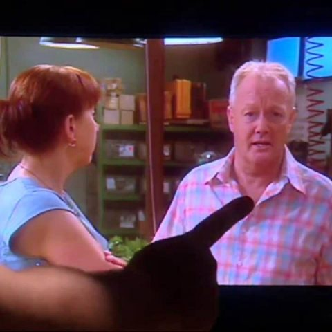 Keith Chegwin in Extras.