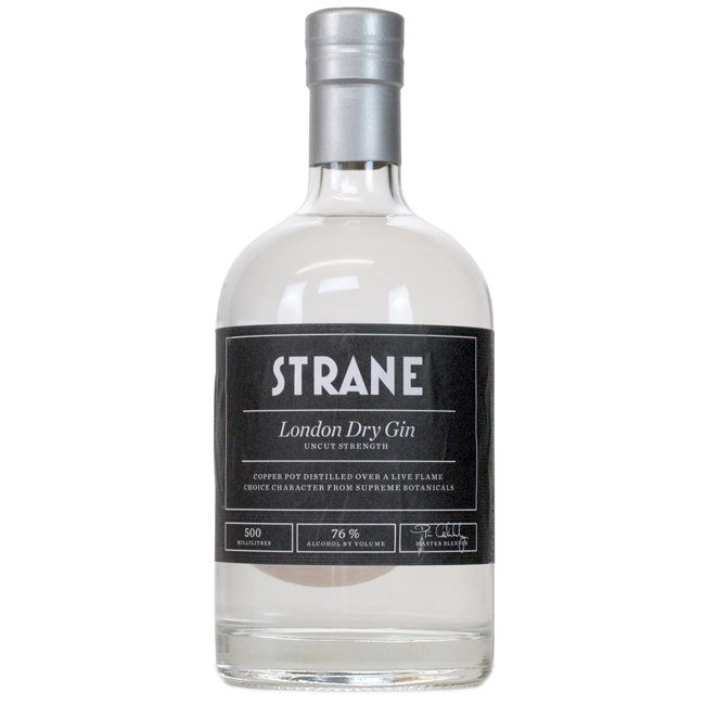 A bottle of very strong gin.