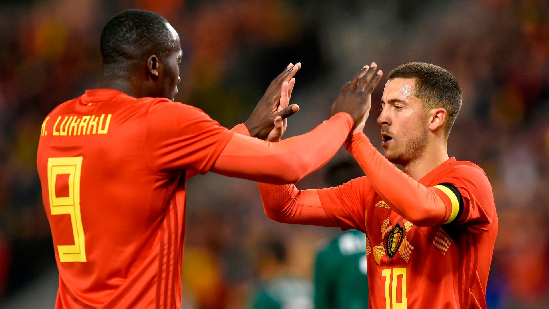 Romelu Lukaku and Edin Hazard on international duty for Belgium.