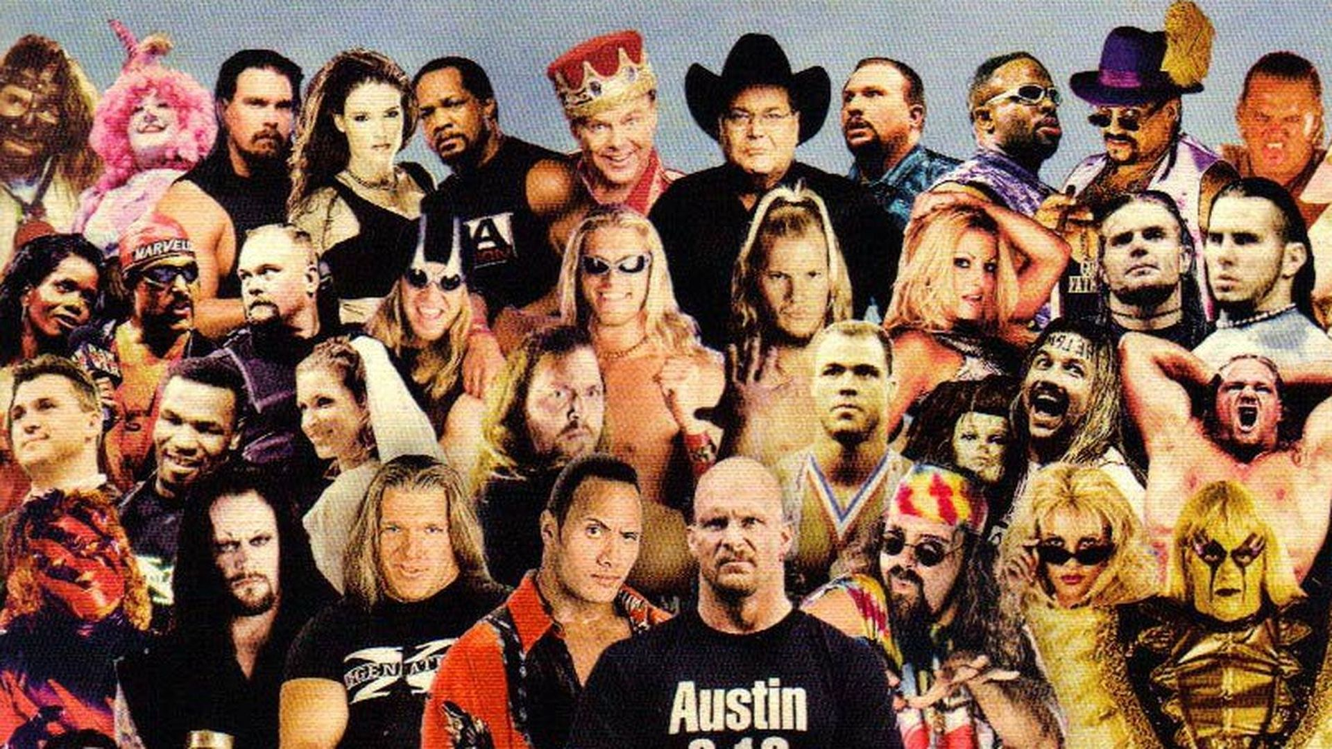 A collection of WWE Attitude era wrestlers.