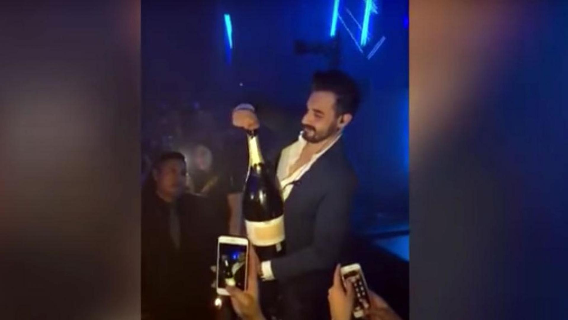 Nightclub champagne douchebag.