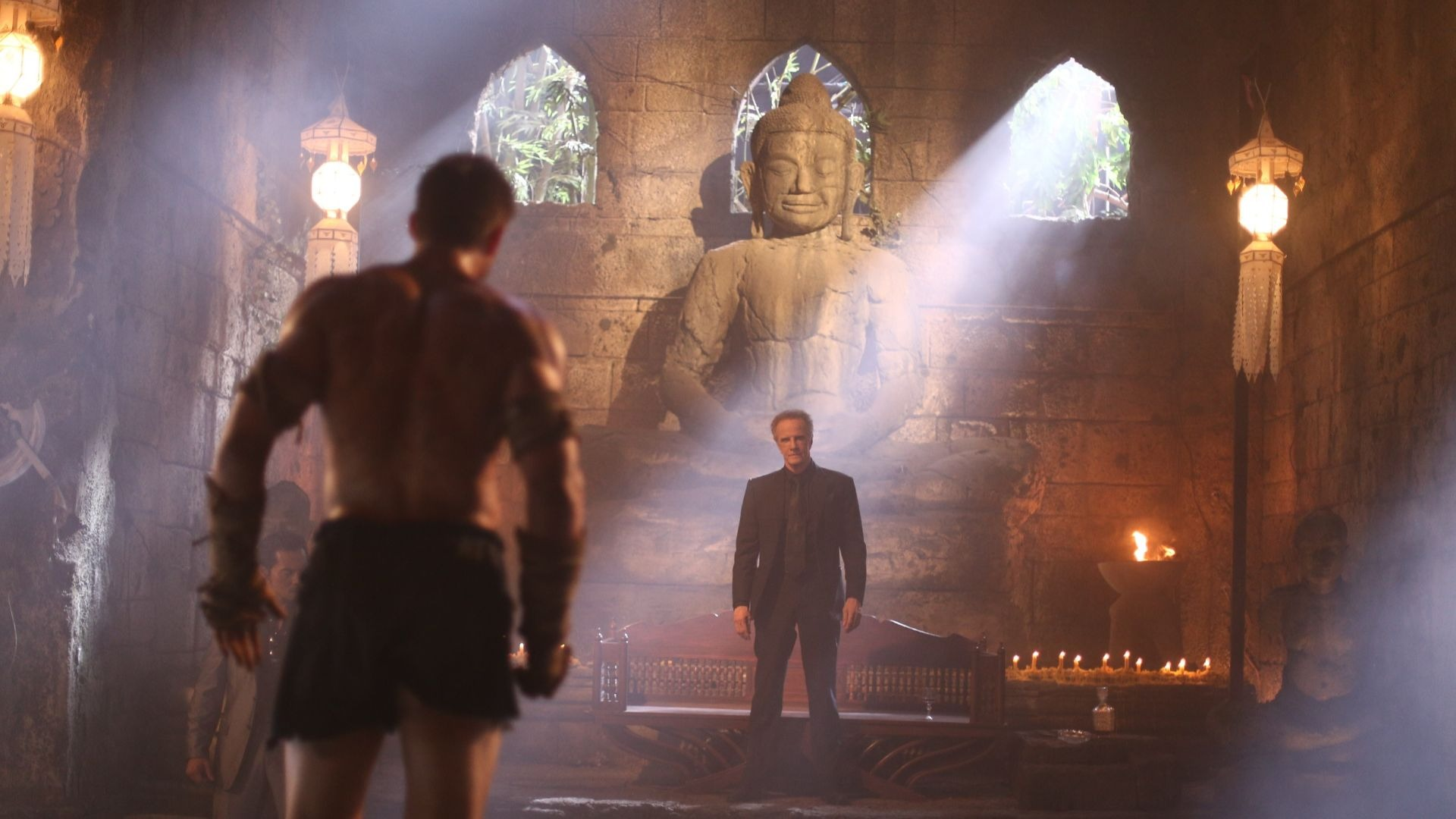 Christopher Lambert in Kickboxer: Retaliation.