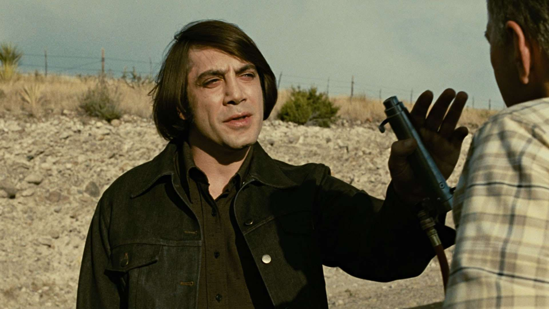 Javier Bardem in No Country For Old Men.