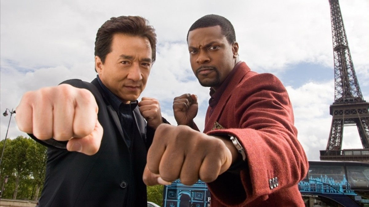 Jackie Chan and Chris Tucker in Rush Hour.