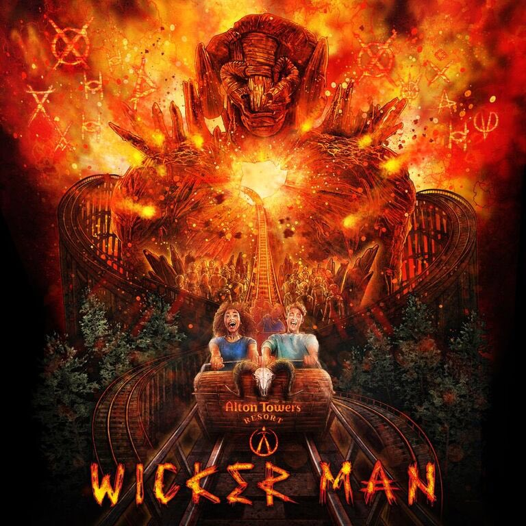 The Wicker Man ride at Alton Towers.