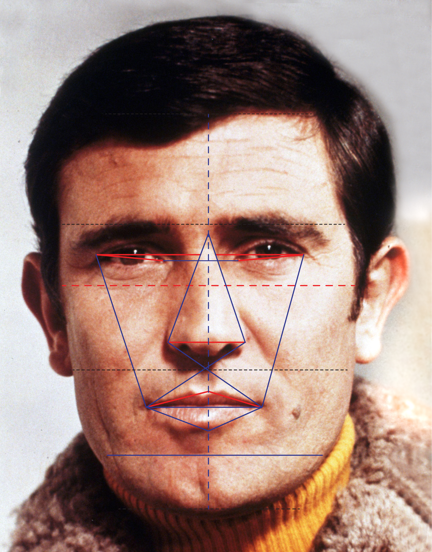 George Lazenby as James Bond and the golden ratio.