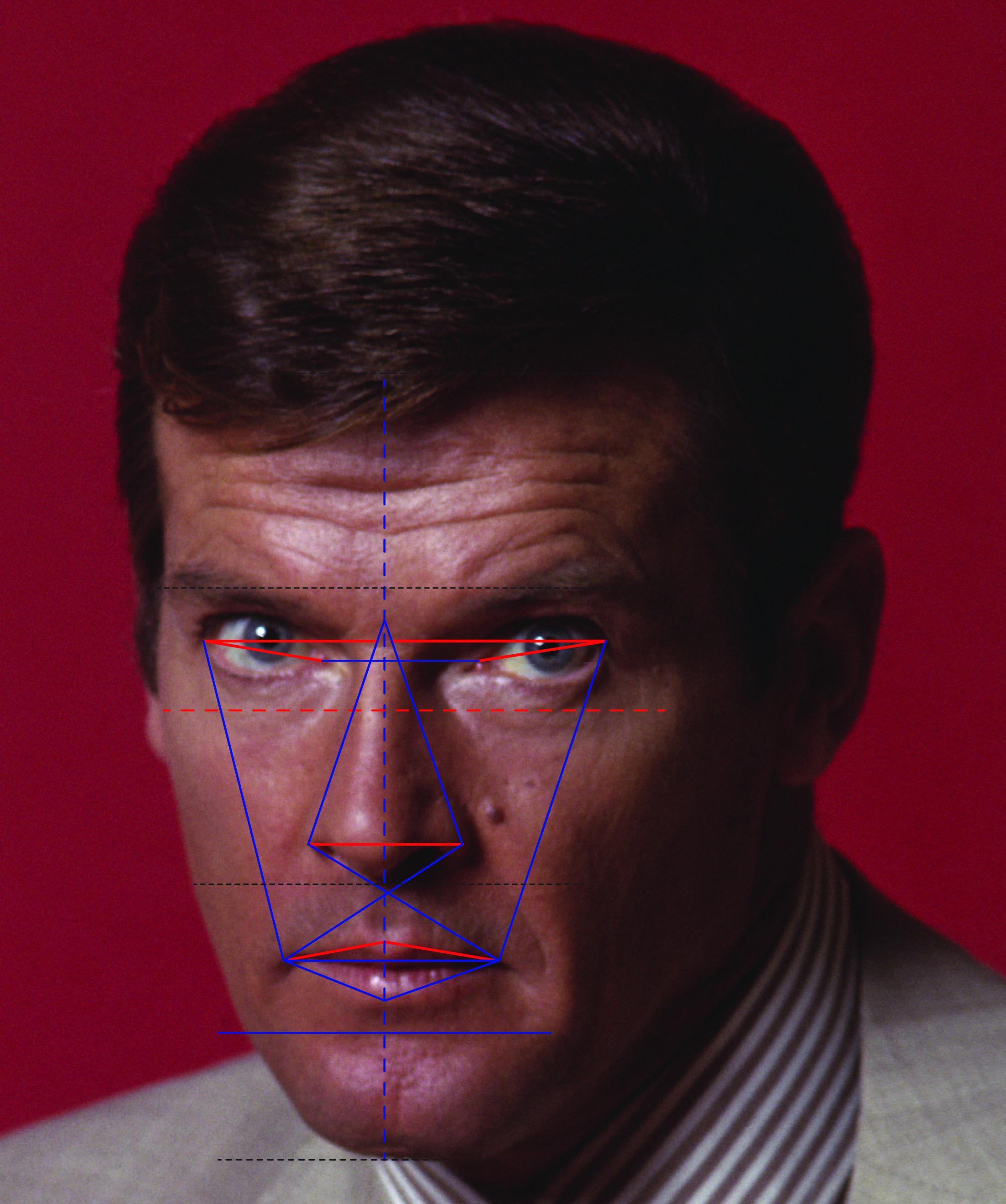 Roger Moore as James Bond and the golden ratio.