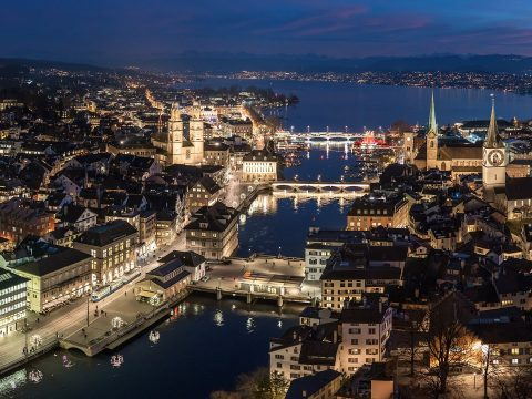 The Swiss capital of Zurich.