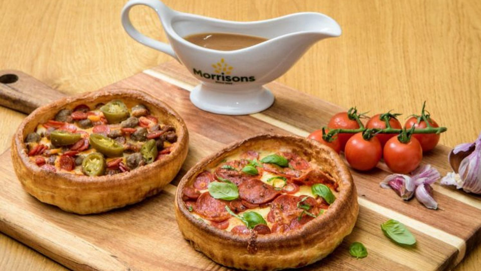 Morrisons Yorkshire Pudding Pizza.