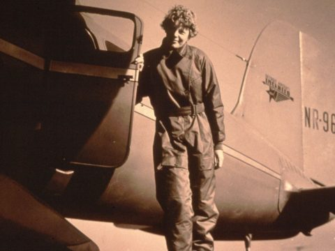 Female aviator Amelia Earhart.