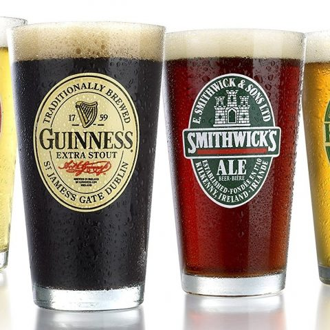 A selection of Irish beers.