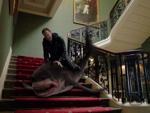 A still from Sharknado 5.
