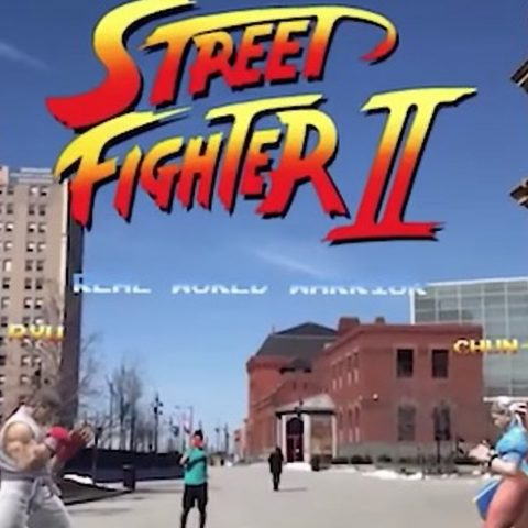 Street Fighter II augmented reality version.