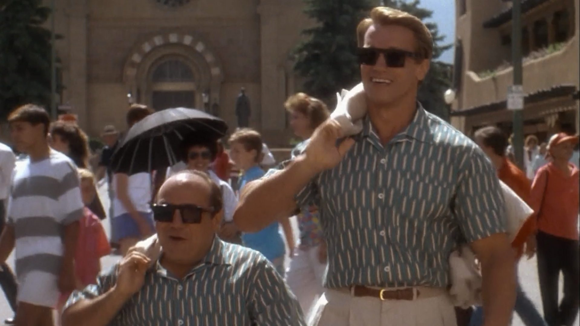 Twins starring Danny DeVito and Arnold Schwarzenegger.