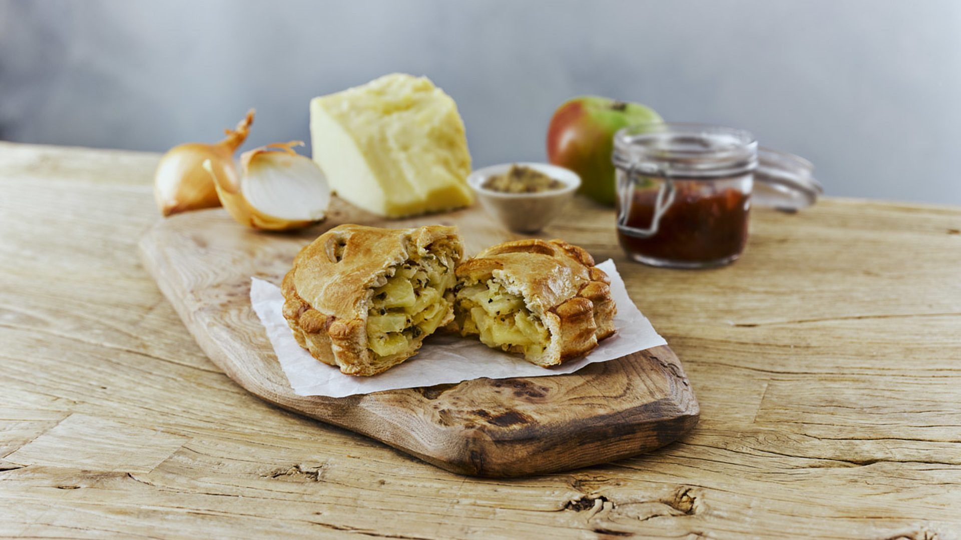The new Ginsters cheese and onion pasty.