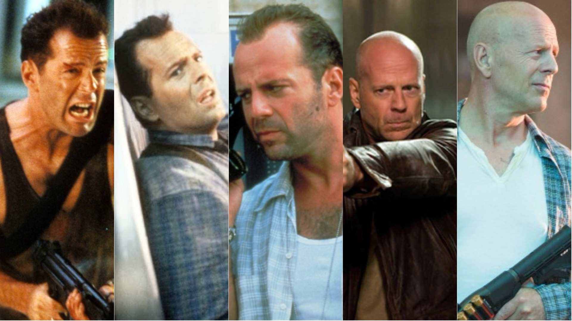 A Die Hard movie collage.