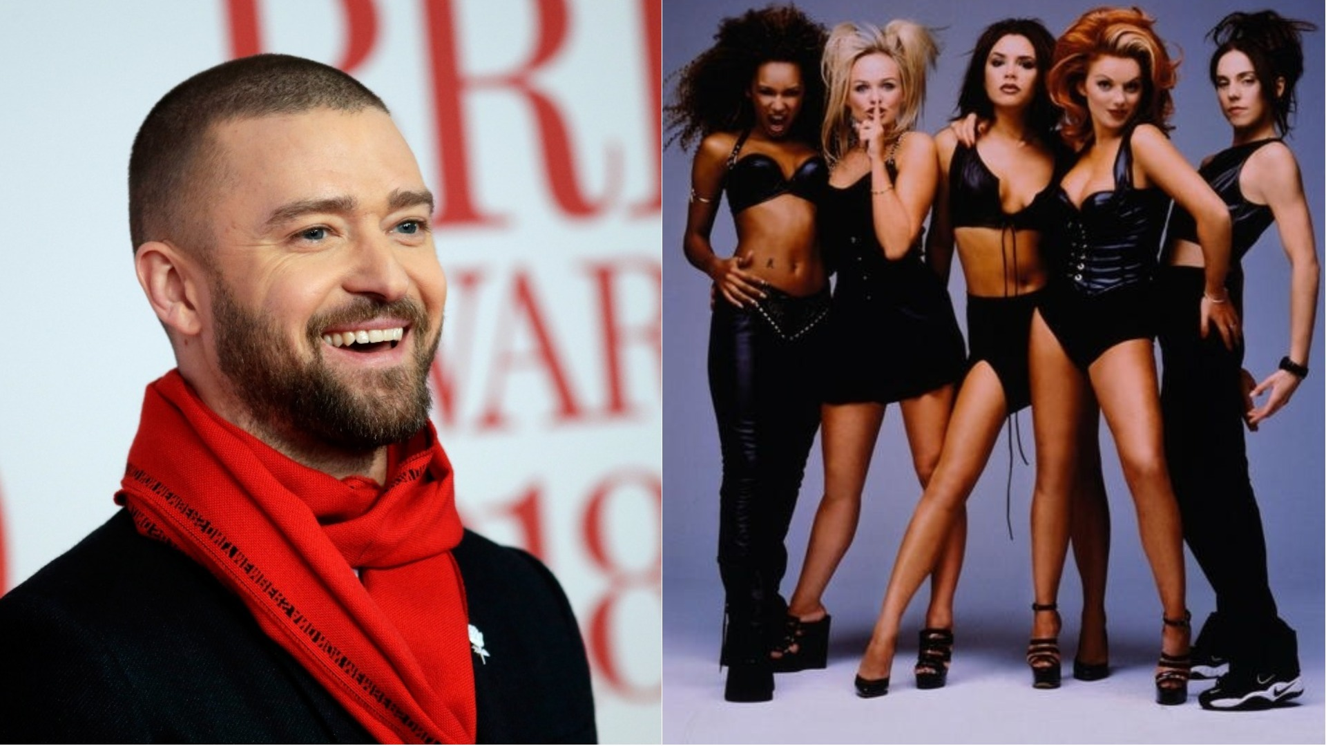 Justin Timberlake and the Spice Girls.