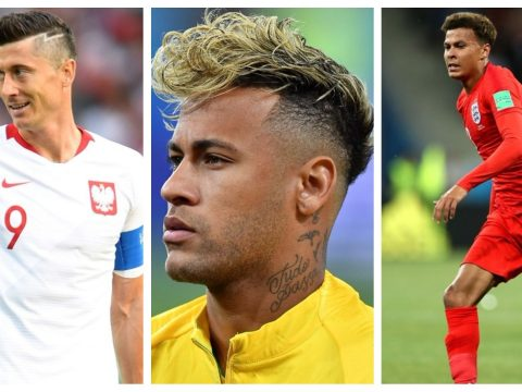 A selection of World Cup haircuts.