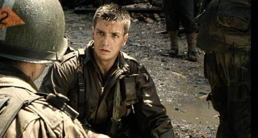 Nathan Fillion in Saving Private Ryan.